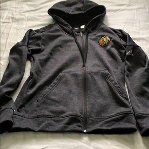 Adidas ClimaWarm zip up hoodi- Chicago Blackhawks